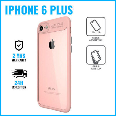 Armor Cover Cas Coque Etui Silicone Hoesje Case Black For iPhone 6 Plus Pink