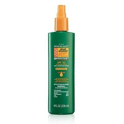 AVON SKIN-SO-SOFT- BUG GUARD EXPEDITION INSECT REPELLENT SPF 30 PUMP BONUS SPRAY