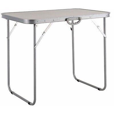 TAVOLO Tavolino da PICNIC in ACCIAIO 80X60X70H cm PIEGHEVOLE PAPILLON