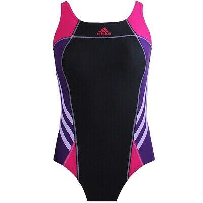 Adidas Infinitex Athletic Badeanzug schwarz pink Damen Sport Schwimmen Einteiler