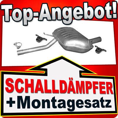 Montagesatz BMW E46-320 325 330  ENDSCHALLDÄMPFER Auspuf Schalldämpfer