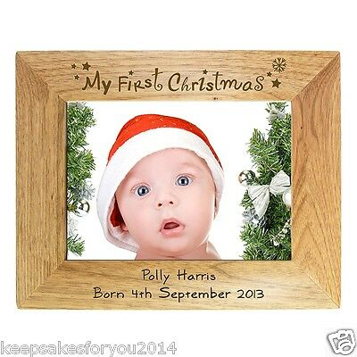 PERSONALISED MY FIRST 1ST CHRISTMAS FRAME - UNIQUE PRESENT GIFT IDEA ()