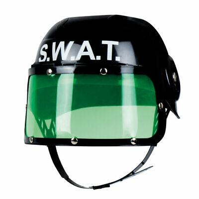 NEU Helm S.W.A.T. für Kinder, schwarz Swathelm Polizeihelm   ()