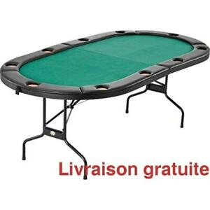 Table de Poker pliante / Casino Game Table with Cushioned Rail, 10 Player