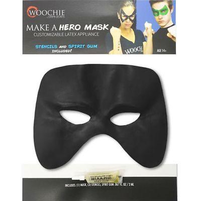 Black CUSTOMIZABLE Professional Quality HERO Costume MASK create ANY shape - Black Hero Mask