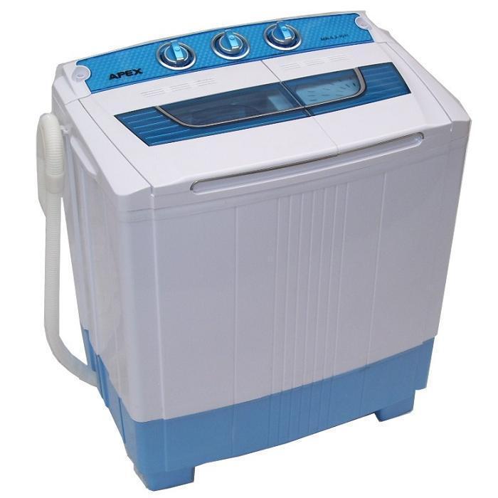 Single Mini Waschmaschine 5,2kg mit Schleuder + Pumpe Miniwaschmaschine Toplader