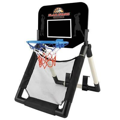 Slam Stars Kids 'Door To Floor' Junior Indoor Basketball Set w/ Ball and Pump 3+