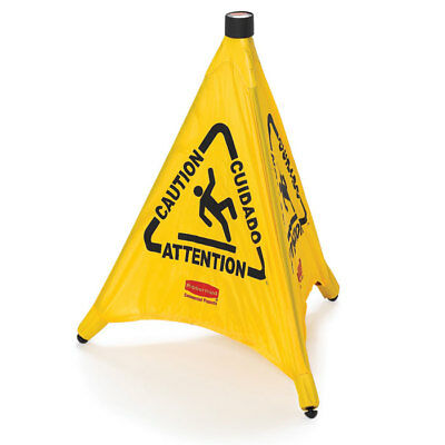 Rubbermaid 9s01 Fg9s0100yel 30 Pop-up Safety Cone Wet Floor Symbol Caution New
