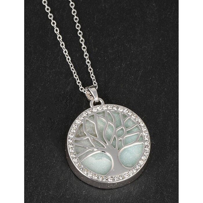Equilibrium Silver Plated Tree Of Life Locket Pendant Necklace 284490