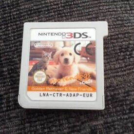 Nintendogs Golden Retriever + Cats - Nintendo 3DS + 2DS Game - Fun Kids Childrens Dog Cat Simulator