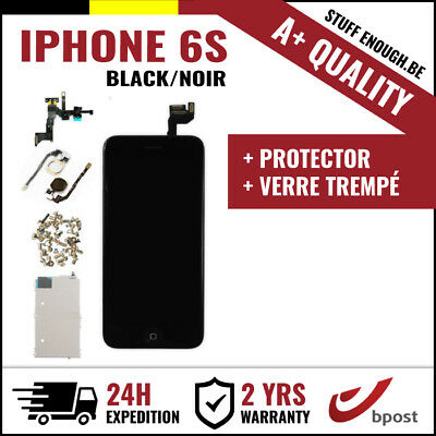 A+ LCD SCREEN SCHERM ÉCRAN FULL ASSEMBLY BLACK NOIR + VERRE TREMPÉ FOR IPHONE 6S