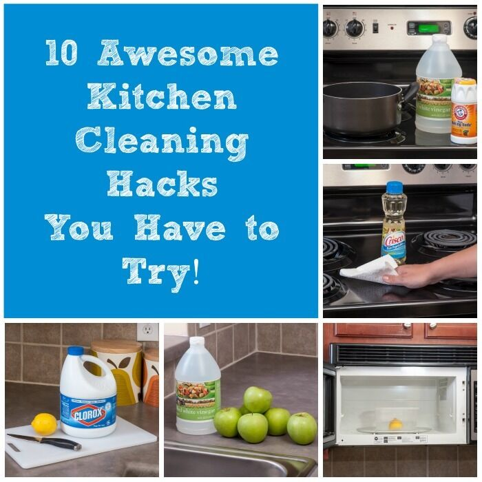 10 Awesome Kitchen Cleaning Hacks You'll Have To Try!
