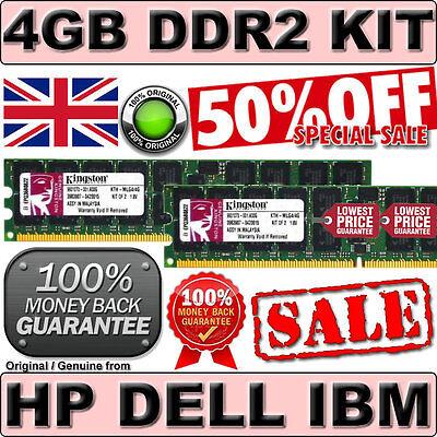 4GB KIT DUAL RANK 2RX4 PC2-3200R ECC REG DDR2 400Mhz 240pin ORIGINAL 345114-851