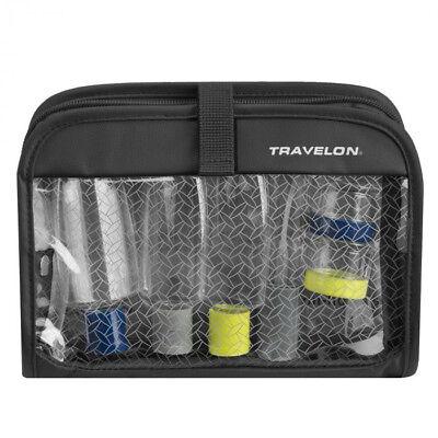 Travelon Wet/Dry 1 Quart Bag with Plastic Bottles Black (1 Quart Plastic Bag)