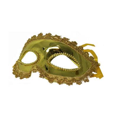 Augenmaske Phantom, gold oder silber, Kostümzubehör Maskenball Venedig Maske (Gold Kostüm Maske)