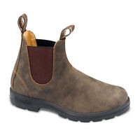 Found one (1) brown Blundstone boot, left foot, size 10 1/2