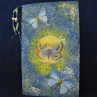 'Butterflies and Music' Hand Made Notebook and Paper Clifton Beach Cairns City Preview
