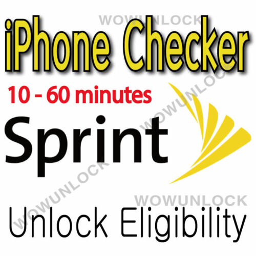 Sprint iPhone Unlock Eligibility Check Service (Clean/Active/Unpaid/Block) SPCS