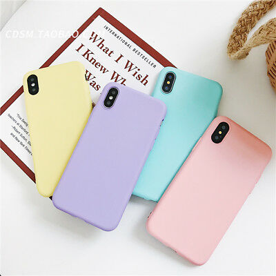 Candy For Cheap (For iPhone XS MAX XR 6 7 8Plus Freshness Simple Pure Color Candy Cheap Soft)