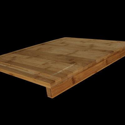 XL Schneidbrett Schneidebrett Backbrett Küchenbrett Tranchierbrett Bambus Holz