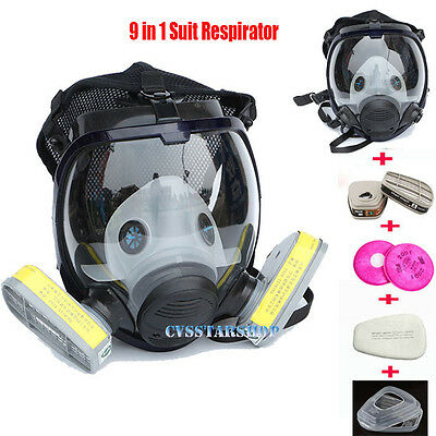 9 In 1 Safety Painting Spray Pesticide For 6800 Full Face Gas Mask