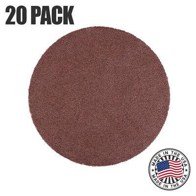 12 100 Grit Sanding Disc Aluminum Oxide Psa Cloth Backed Discs - 20 Pack