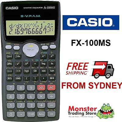 AUSTRALIAN SELLER CASIO SCIENTIFIC CALCULATOR FX-100 FX100 FX100MS WARRANTY