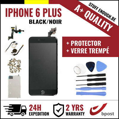 A+ LCD SCHERM ÉCRAN ASSEMBLY BLACK NOIR +TOOLS & VERRE TREMPÉ FOR IPHONE 6 PLUS