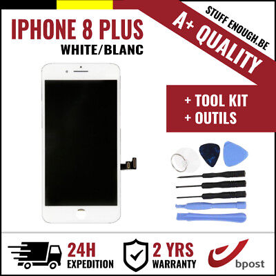 A+ LCD TOUCH SCREEN DISPLAY/SCHERM/ÉCRAN WHITE BLANC & TOOLS FOR IPHONE 8 PLUS