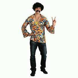Brand New Groovy Hippie Shirt fancy dress costume for 1960s parties worth £15