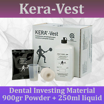 Dental Lab Casting Investment Material Kera Vest Made In Germany 900gr 250ml