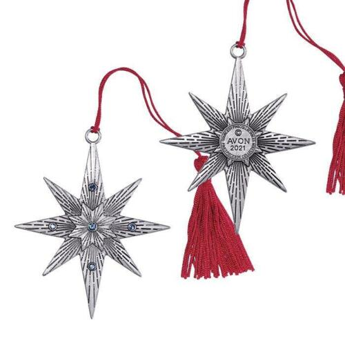 AVON STARRY NIGHT 2021 PEWTER ORNAMENT COLLECTIBLE DATED 2021 NIB