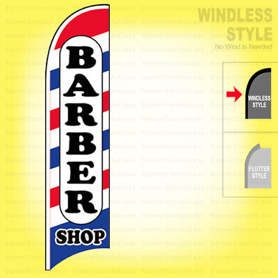 Barber Shop - Windless Swooper Flag 2.5x11.5 Ft Feather Banner Sign Wb