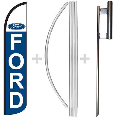 Ford 15 Tall Windless Swooper Feather Banner Flag Pole Kit