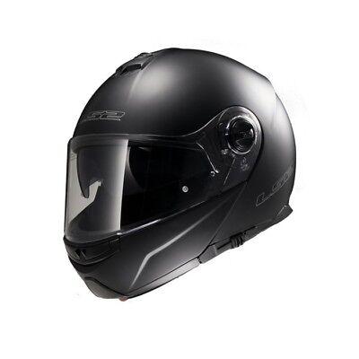 Casco Moto LS2 FF325 STROBE uni Taglia:XL (61) NERO OPACO CASCO PIEGHEVOLE