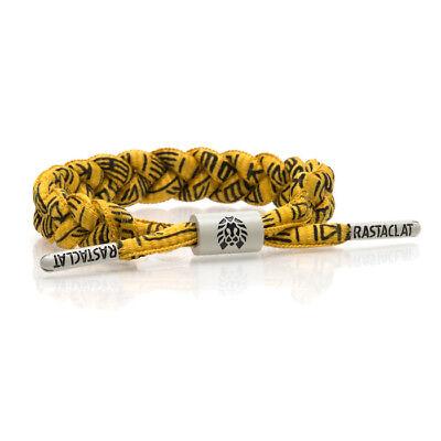 Brand New RASTACLAT Spank Gold Black Braided Shoelace Bracelet