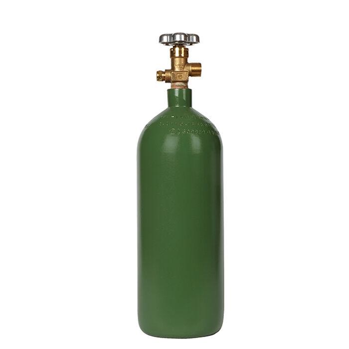 20 cuft New Steel Oxygen Cylinder - CGA540 Valve Welding & Medical Applications