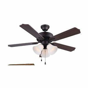 "3 light 42"" ceiling fan"