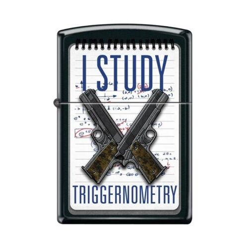 Zippo Lighter - I Study Triggernometry Black Matte - 854785