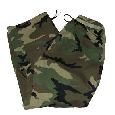 Army Waterproof Pants Medium Trousers Camouflage Woodland Camo Tactical Fatigues