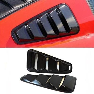 2005-2014 Ford Mustang V6 V8 GT Black Window Louver Side Vent Set Pair Visor ABS