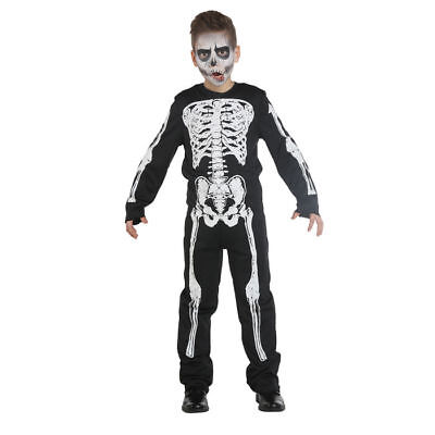 Kinder-Kostüm Skelett Boy // Skelettkostüm Halloween - Boys Kinder Kostüme