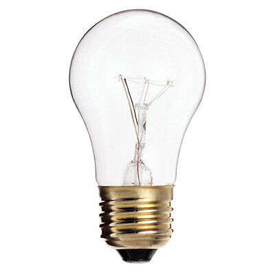 Satco S3810 40W 130V A15 Clear E26 Oven rated Incandescent light bulb ()