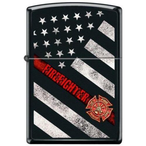 Zippo Lighter - Thin Red Line Flag Black Matte - 854835