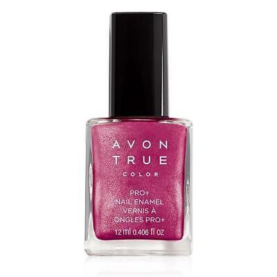 Avon True Color Pro+ Nail Enamel Polish BERRY SHIMMER Strengthen Nails $8 VALUE!
