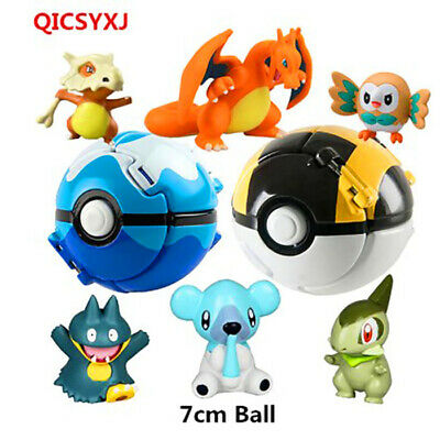 1 pcs Little Elf Inside Pokeball Pika Pikachu Anime Gift PVC Action Figure Toys