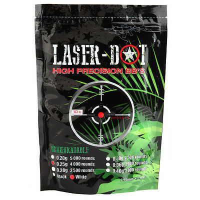 Bio Laser Dot  0 25G Competition Grade Airsoft 6Mm Bbs Bb  5X4000rd Bag  20 000