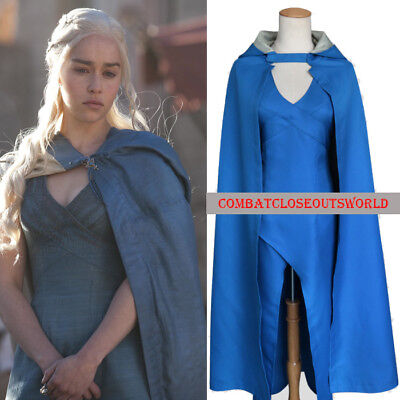Womens Game Of Thrones Daenerys Targaryen Dress Costume Halloween Cosplay Usa