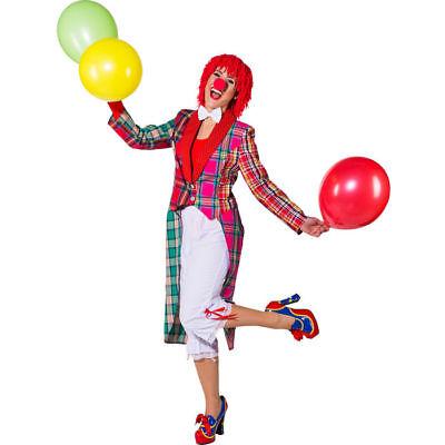 NEU Damen-Kostüm Patchwork Frack Clown Clownkostüm Zirkus Clownskostüm   - Clown Frack Kostüm