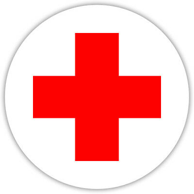 Aufkleber Rotes Kreuz Verbandskasten Erste Hilfe Hinweisschild  8cm